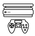 videogame console icon vector image
