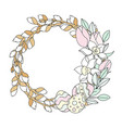 willow wreath easter religious holiday set vector image
