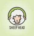 woolly sheep head funny cartoon character icon vector image vector image