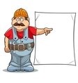 cartoon builder vector image