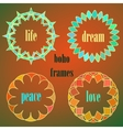 Colored indian circle ornaments vector image