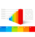 Digital graph design elements vector image