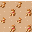 A seamless design with teddy bears vector image vector image