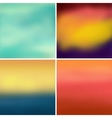 Abstract colorful blurred backgrounds set 4 vector image