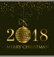 abstract gold new year baubles vector image vector image