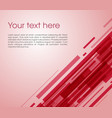 abstract oblique rectangle background in red color vector image vector image
