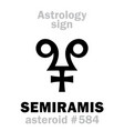 astrology asteroid semiramis vector image vector image