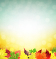 Autumn Leaves Poster vector image vector image