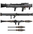 bazooka design set vector image