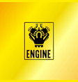black engine power emblem vector image