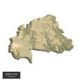 burkina faso map - 3d digital high-altitude vector image vector image