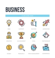 Business icons Thin line pictograms vector image vector image