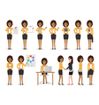 Business woman characters vector image vector image