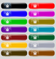 Cannabis leaf icon sign Set from fourteen vector image