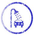 car shower grunge textured icon vector image