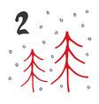 christmas advent calendar hand drawn elements vector image vector image