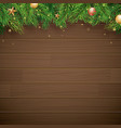 christmas background with fir branch on brown vector image vector image