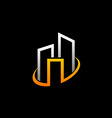 cityscape building abstract logo vector image