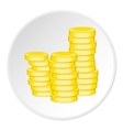 Coins icon cartoon style vector image vector image