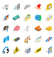 commercial activity icons set isometric style vector image vector image