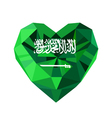 crystal gem jewelry Saudi Arabian heart with the vector image vector image