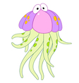 cute cartoon jellyfish vector image vector image