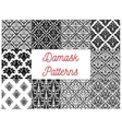 damask seamless patterns victorian flourishes vector image