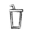 delicious soda cup vector image vector image