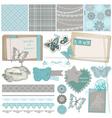 Design Elements - Vintage Lace Butterflies vector image vector image