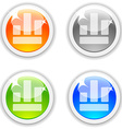 Diagram buttons vector image vector image