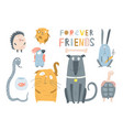 domestic pets animals collection vector image
