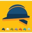Flat design helmet vector image