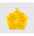 gold crown icon crown awards for winners vector image