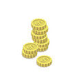 golden dollar coins isometric 3d icon vector image vector image