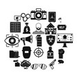 hacking icons set simple style vector image vector image