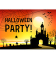 Halloween festival with graveyard vector image