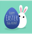 happy easter greeting card with bunny hiding vector image vector image