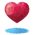 Heart in the style of a triangular low poly vector image vector image