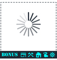 Loading icon flat vector image vector image