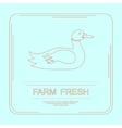 Logotype of farm fresh vector image