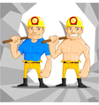Mine Worker vector image vector image