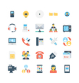 Network and Communications Icons 5 vector image