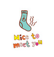 nice to meet you vector image vector image