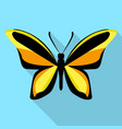 orange black butterfly icon flat style vector image vector image