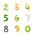 preschool flat icons vector image
