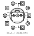 Project budgeting line icons vector image vector image