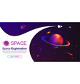 rocket in space space background vector image