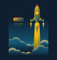 rocket launch texture style concept vector image