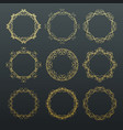round calligraphy golden frames vector image vector image