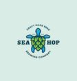 sea hop logo vector image